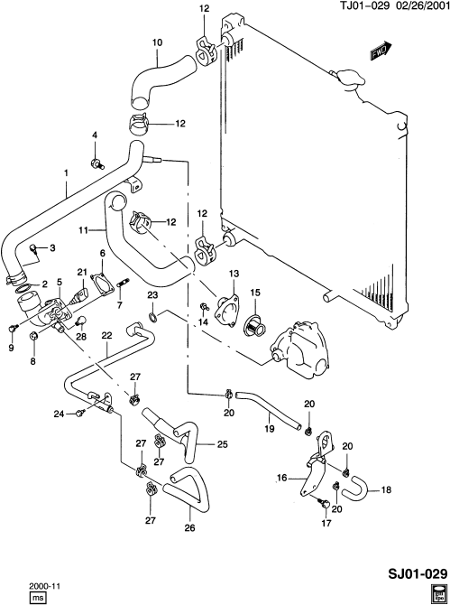 small resolution of engine coolant thermostat hose for veh