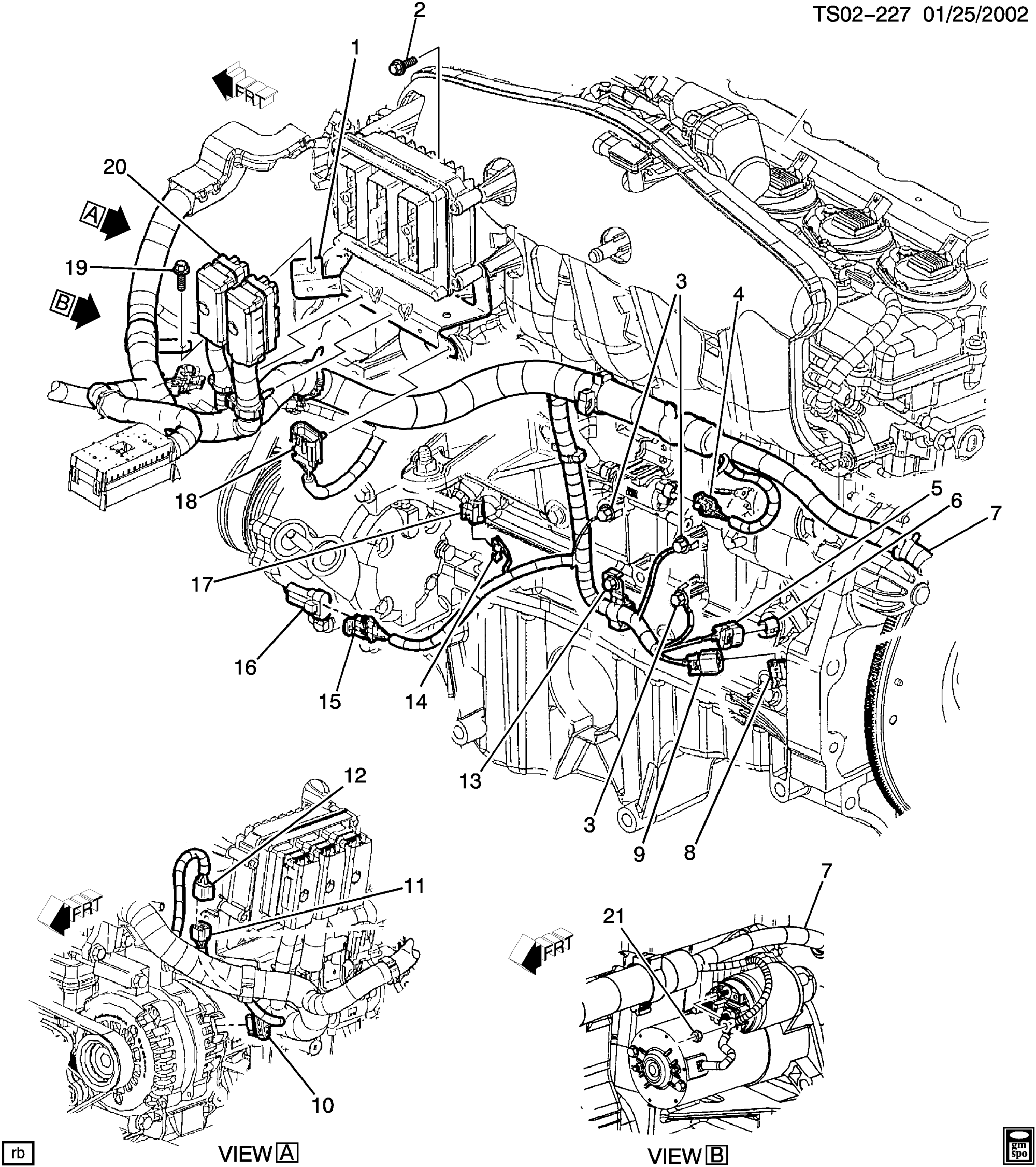 hight resolution of wiring harness engine lh side