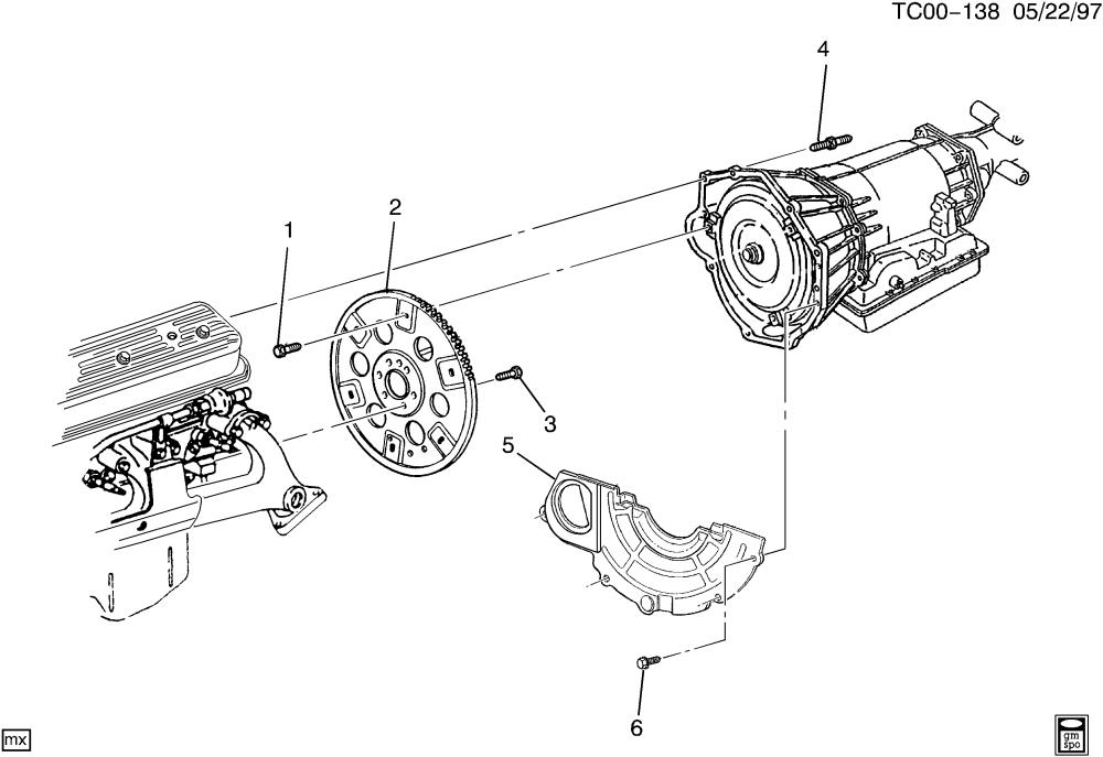 medium resolution of ck engine to transmission mounting l30 5 0m l31 5 7r m30