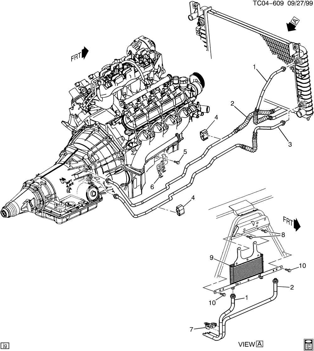 medium resolution of 4l60e transmission diagram and labels wiring diagrams 101 4l60e transmission cooler line diagram