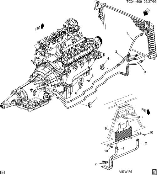 small resolution of 4l60e transmission diagram and labels wiring diagrams 101 4l60e transmission cooler line diagram