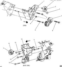 blazer trailblazer 2wd tensioner drive belt idler pulley chevrolet epc online nemiga com [ 2921 x 3183 Pixel ]