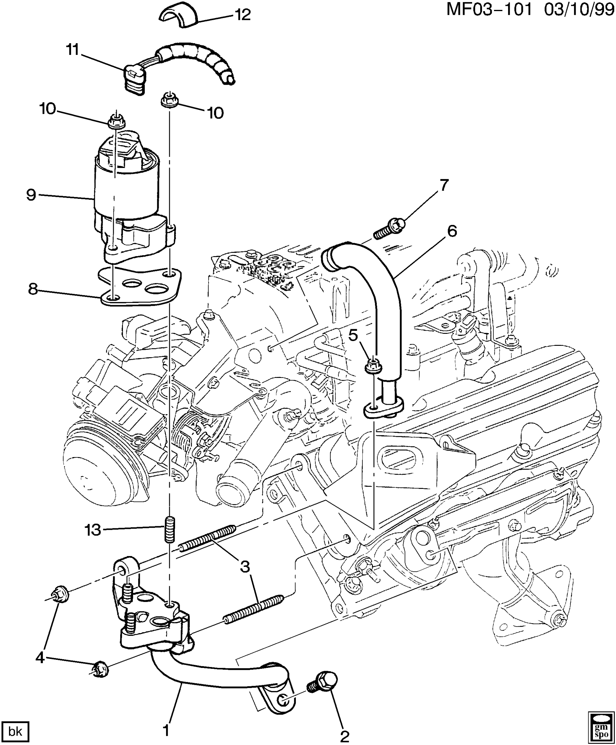 hight resolution of camaro e g r valve related parts u003e chevrolet epc online 99 camaro egr valve diagram