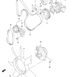 engine coolant pump related parts for  [ 2427 x 3315 Pixel ]