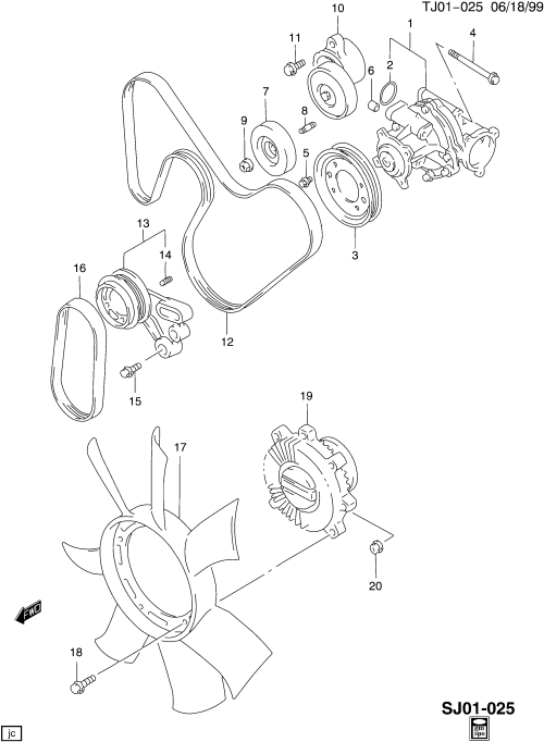 small resolution of engine coolant pump related parts for