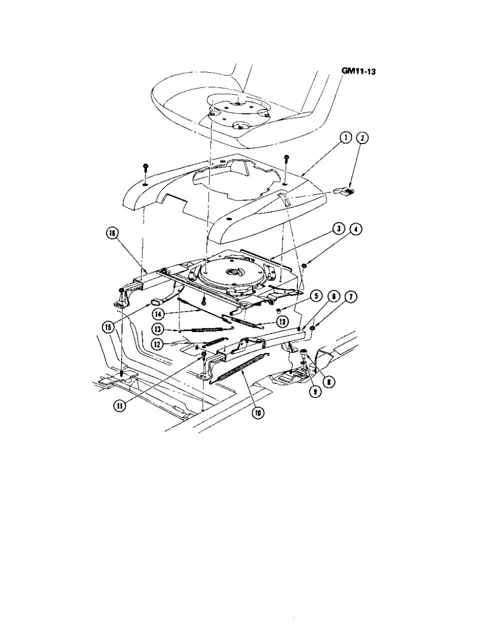 medium resolution of el camino swivel bucket seat hardware chevrolet epc online nemiga com