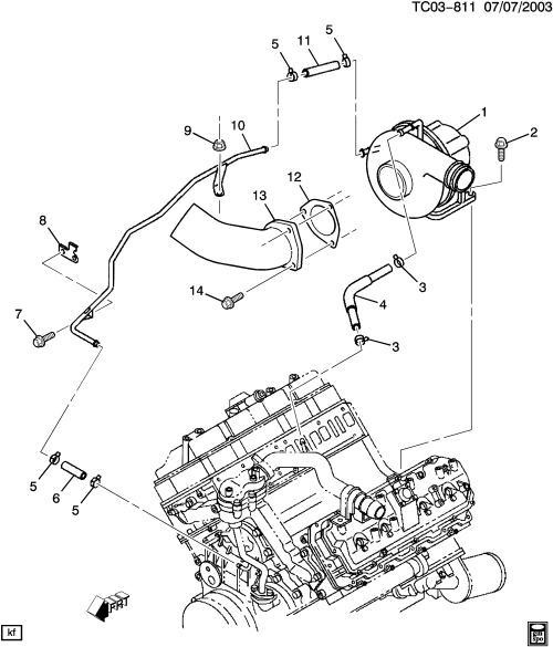 small resolution of ck2 3 turbocharger cooling system lb7 6 6 1