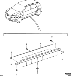 pontiac vibe s26 moldings body part 2 side rocker panel related pontiac vibe body parts diagram [ 2343 x 2685 Pixel ]