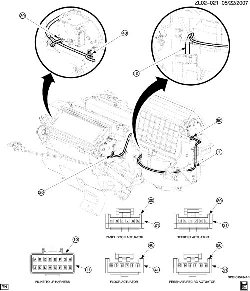 small resolution of l wiring harness hvac module connectors