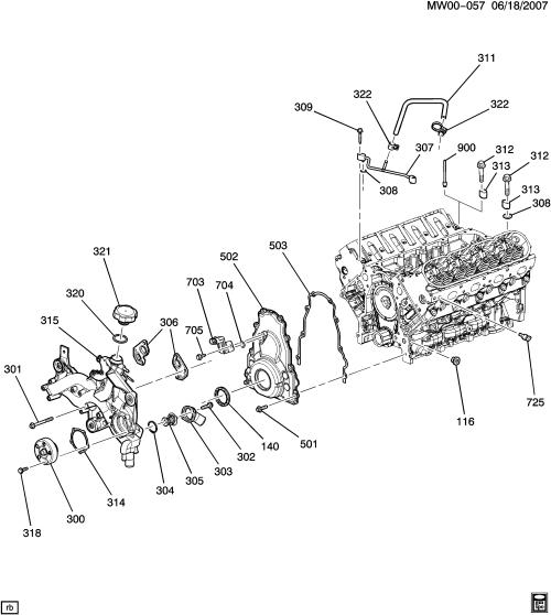 small resolution of pontiac grand prix w engine asm 5 3l v8 part 3 front cover and ls4 engine diagram