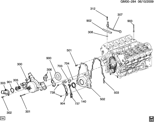 small resolution of engine asm 5 3l v8 part 3 front cover