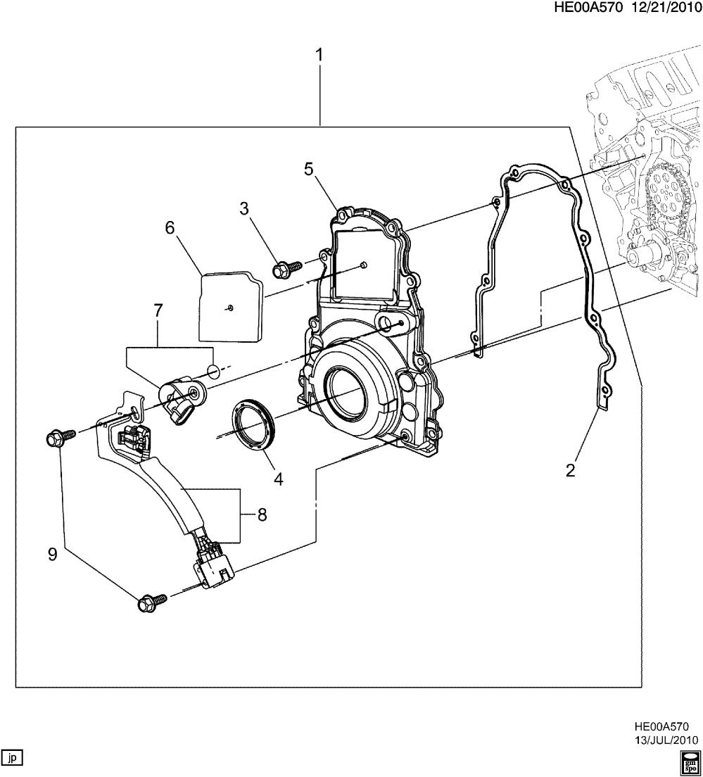 medium resolution of pontiac g8 e engine asm v8 front cover l76 6 0y u003e epc online rh nemigaparts