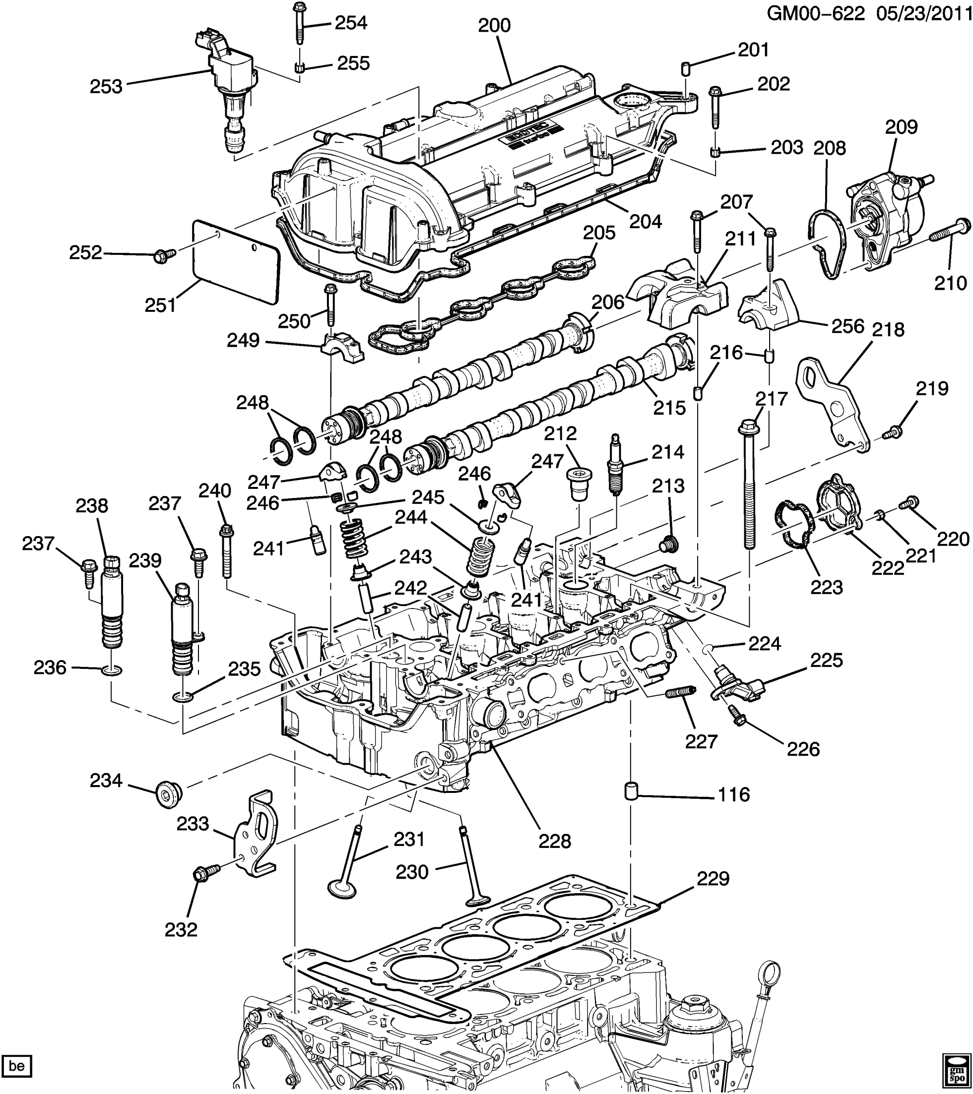 hight resolution of buick regal gk engine asm 2 0l l4 part 2 cylinder head related ford e
