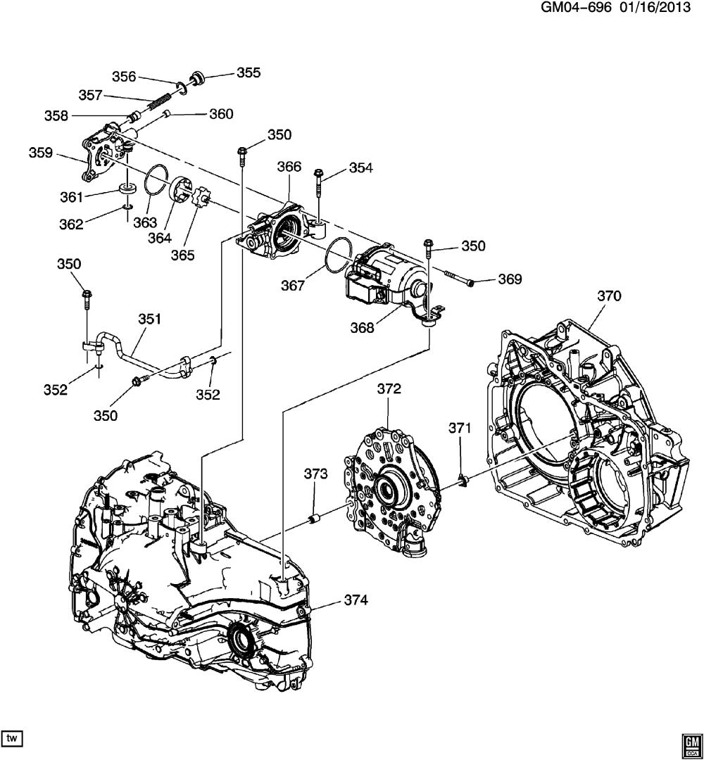 medium resolution of gb gm automatic transmission mhh 6t40 auxiliary fluid pump