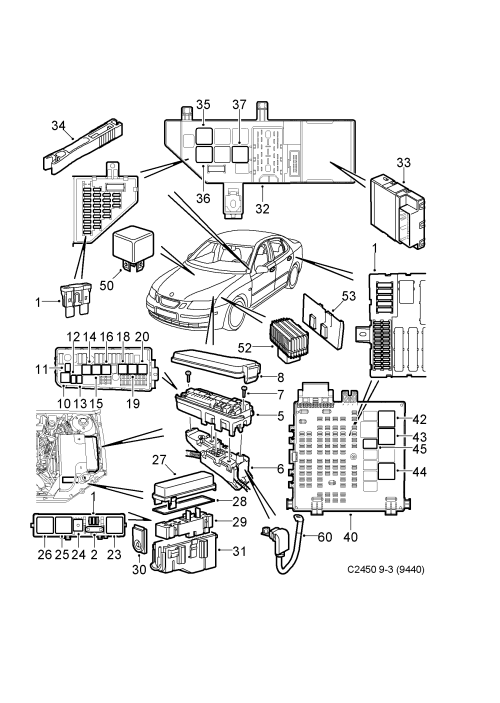 small resolution of saab 9 3 9440 spare parts catalog epc