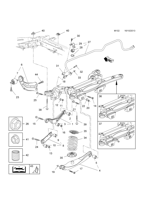 small resolution of rear suspension arm