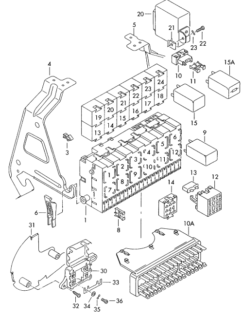 small resolution of  diagram moreover fuse box translation furthermore 2002 volkswagen eurovan 1995 1995 vag etka