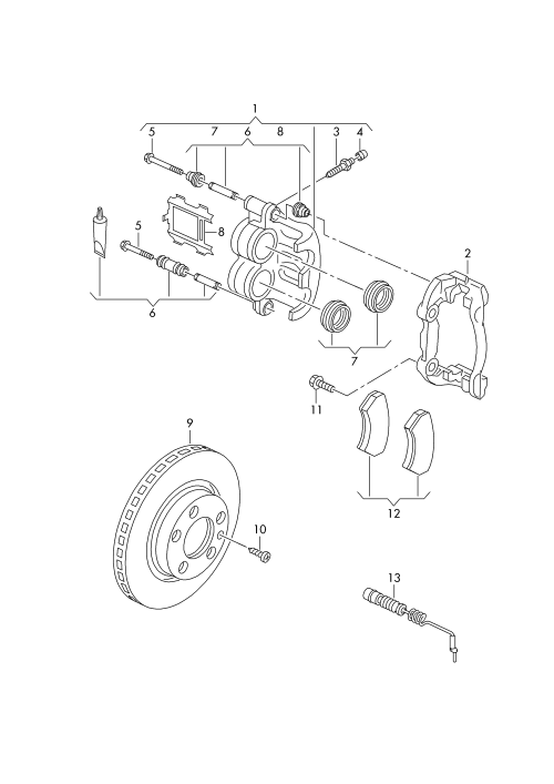 small resolution of floating caliper brake volkswagen lt lt 4x4 1997 2003 vag etka