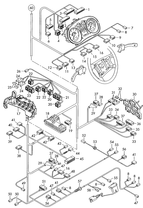 small resolution of audi a2 2000 2005 individual parts central wiring set u003e vag audi a2 central locking wiring diagram