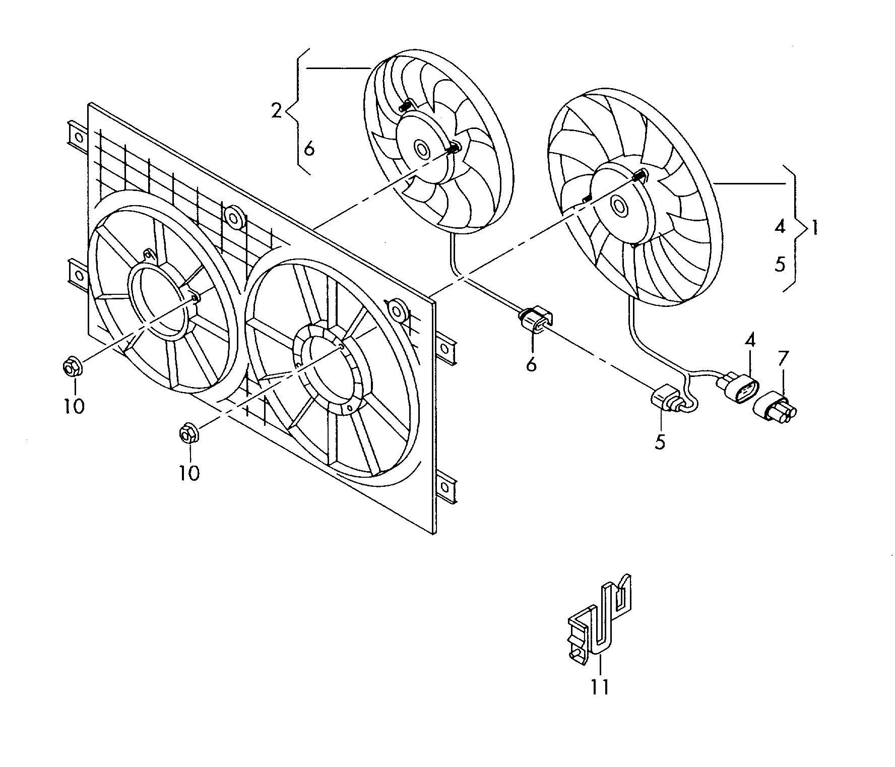 hight resolution of radiator fan skoda octavia 2004 2008 vag etka