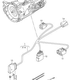 wiring harness for gearbox volkswagen touareg 2015 2017 vag etka [ 2114 x 2927 Pixel ]