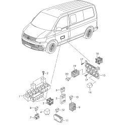 fuse diagram 2005 volkswagen source volkswagen transporter kombi 2016 2017 relay relay plate [ 2483 x 3508 Pixel ]