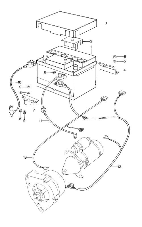 small resolution of porsche 924 1976 1979 battery starter generator for wiring porsche 924 starter wiring porsche