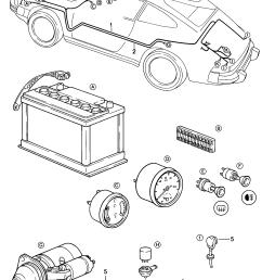 porsche 911 1984 1986 battery starter cable boot floor plate 1984 porsche 911 trunk wiring [ 1658 x 2326 Pixel ]