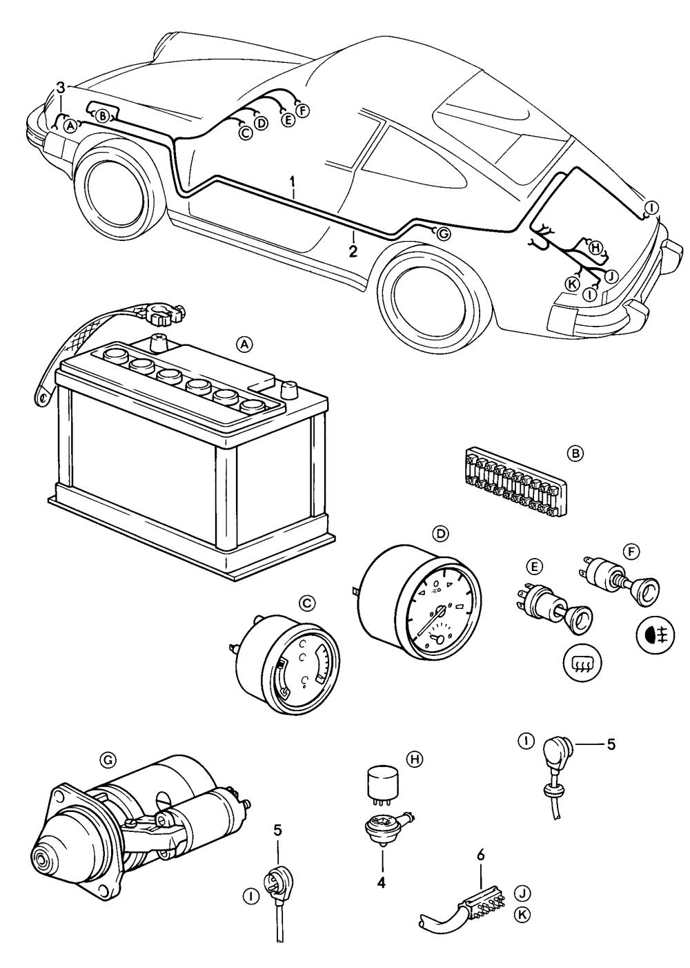 medium resolution of porsche 911 1984 1986 battery starter cable boot floor plate 1984 porsche 911 trunk wiring