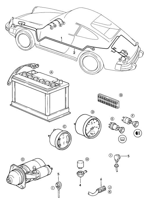 small resolution of porsche 911 1984 1986 battery starter cable boot floor plate 1984 porsche 911 trunk wiring