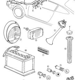 diagram porsche 911 1984 1986 front luge compartment wiring  [ 1665 x 2329 Pixel ]