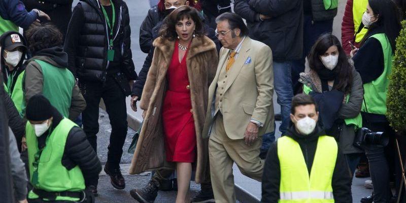 LADY GAGA AND AL PACINO FILM GUCCI MOVIE IN ROME