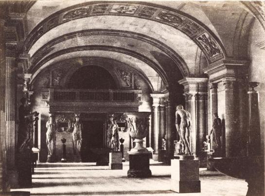 | Salle des Cariatides, au Musée du Louvre c. 1851 |
