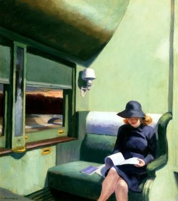 | Compartment C, Car 293, 1938, by Edward Hopper |