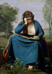 | The Reader Wreathed with Flowers, c. 1845 |