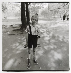 | Child with a toy hand grenade in Central Park, N.Y.C., 1962 |
