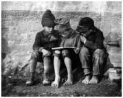 | Esztergom, Hungary (three boys reading), 1915 |