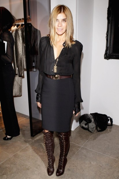 carine roitfield balck and brown outfit