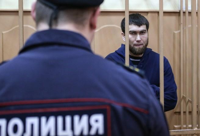 """MOSCOW, RUSSIA. NOVEMBER 24, 2015. Anzor Gubashev, a defendant in the Russian politician Boris Nemtsov murder case, at a hearing into the investigation's request to extend his arrest at Moscow's Basmanny District Court. Sergei Savostyanov/TASS –ÓÒÒˡ. ÃÓÒÍ'‡. 24 ÌÓˇ·ˇ 2015. ¿ÌÁÓ √Û·‡¯Â', Ó·'ËÌˇÂÏ˚È ÔÓ ‰ÂÎÛ Ó· Û·ËÈÒÚ'ÔÓÎËÚË͇ ¡ÓËÒ‡ ÕÂψӂ‡, 'Ó 'ÂÏˇ ‡ÒÒÏÓÚÂÌˡ 'ÓÔÓÒ‡ Ó ÔÓ‰ÎÂÌËË ‡ÂÒÚ‡ ' ¡‡ÒχÌÌÓÏ ÒÛ‰Â. —Â""""ÂÈ —‡'ÓÒÚ¸ˇÌÓ'/""""¿——"""