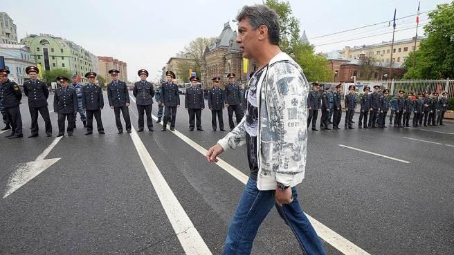"06.05.2012. Москва. Борис Немцов во время акции оппозиции ""Марш миллионов"""