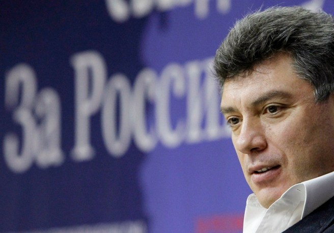 "Opposition leader Boris Nemtsov takes part in the Coalition of Democratic Forces congress called ""For Russia without lawlessness and corruption"" in Moscow December 13, 2010. REUTERS/Denis Sinyakov (RUSSIA - Tags: POLITICS)"