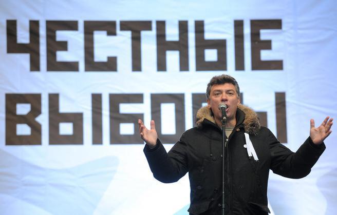 Фото: Валерий Шарифулин / ТАСС / Scanpix Сопредседатель движения «Солидарность» Борис Немцов на митинге оппозиции «За честные выборы» на проспекте Сахарова, Москва, 24 декабря 2011 года