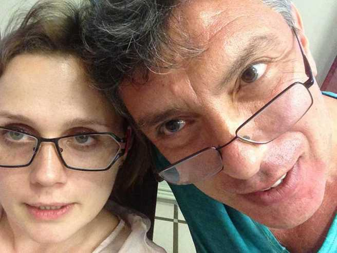 Ольга Шорина и Борис Немцов. / Фото: Ольга Шорина