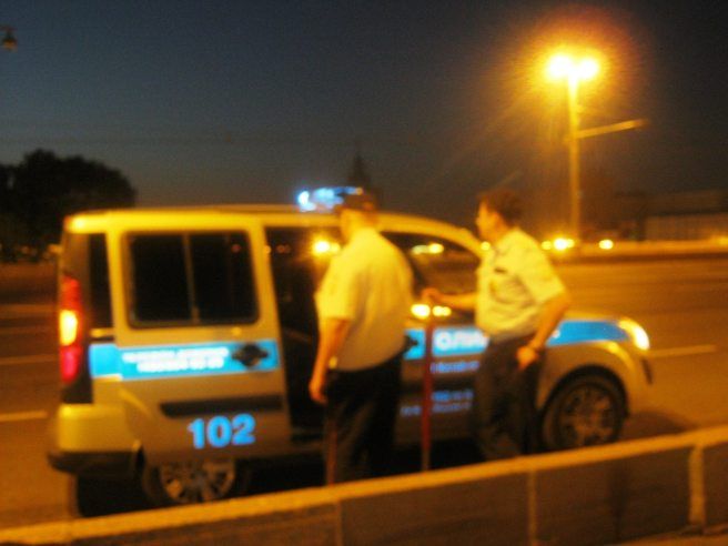 """Полиция забирает """"ватника"""""""
