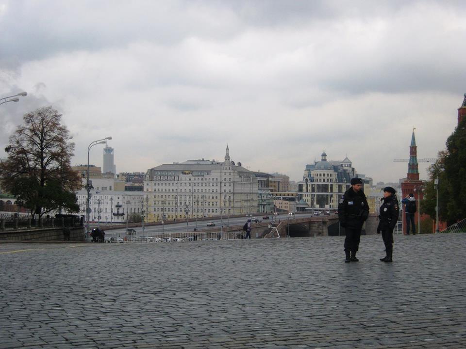 20.10.2016. Немцов мост. Вид с Красной площади.
