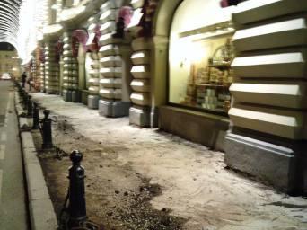 22.04.2017 Ночь на Мосту Немцова. Путь на Мост. Ветошный переулок. Опять будет плитка?
