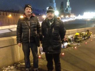 С Кирилл Гиляров и Сергей Добрин. Фотографии — Тамары Луговых
