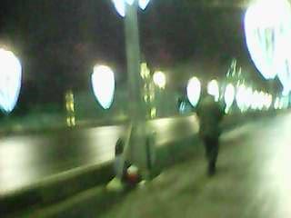 14.03.2018 Дежурство на Мосту Немцова Холодная ветреная ночь Тимофей
