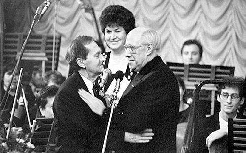 Встреча через 20 лет — Израиль Гусман, Мстислав Ростропович, Ольга Томина