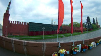 05.05.2018 Ночное дежурство на Мосту Немцова Мемориал